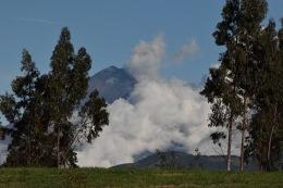 El Tungurahua cobijado en sabanas blancas