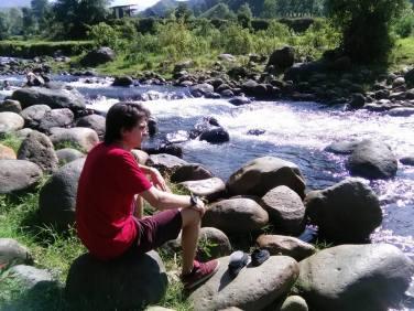 Rio Quindío a la altura de Boquía, Salento.