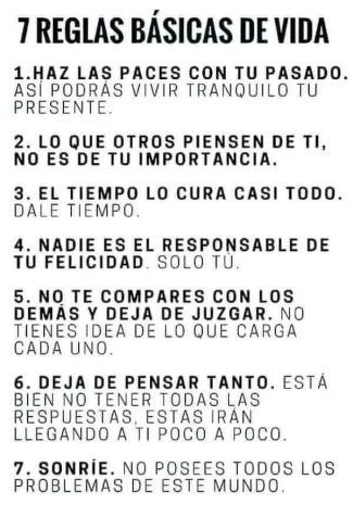 7 reglas básicas de la vida