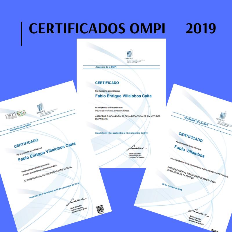 Certificados OMPI 2019